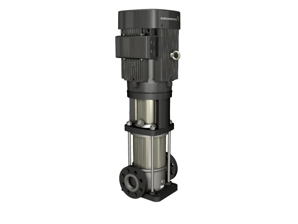 Grundfos - CRN15-4 Series Centrifugal Pump - 316SS/Viton - with 7_1/2HP - 208-230/460VAC - 60Hz - 3450-RPM Motor - Part: CRN15-4-A-FGJ-G-V-HQQV - 96523753