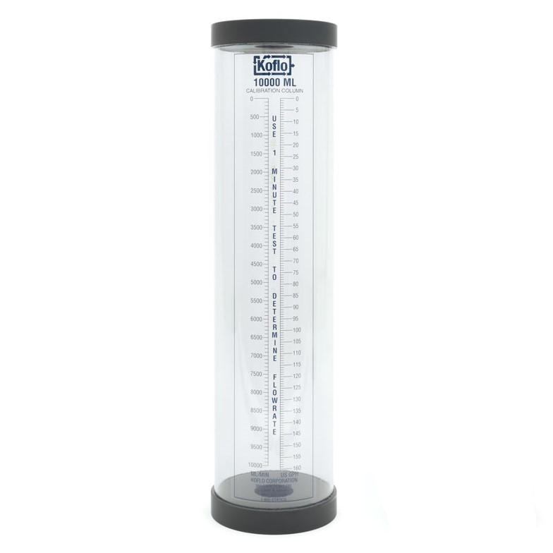 "Koflo 10,000 ml - Calibration Column with PVC Body - Vented - 2"" FPT Connection - 6"" Diameter - 27"" Length - Part #: Koflo10000"