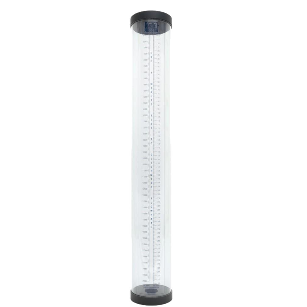 "Koflo 20,000 ml - Calibration Column with PVC Body - Vented - 2"" FPT Connection - 6"" Diameter - 46"" Length - Part #: Koflo20000"