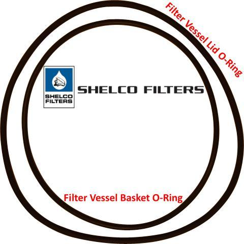 Shelco Buna Gasket for Swing Bolt Cover, Size #1 or #2 Bag Housing (Lid O-Ring) - Part #: 8017-SB-KIT-B