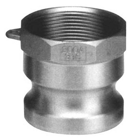 "1"" Male CAM by Female Thread - Type A - 316 Stainless Steel - Part #: A100-SS"