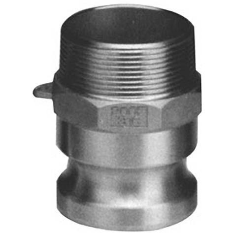 "1"" Male CAM by Male Thread - Type F - 316 Stainless Steel - Part #: F100-SS"