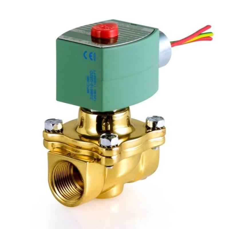 "Asco - Solenoid Valve - 1/2"" NPT - 2 way - Brass Body - Normally Closed - 120/60 VAC - Part #: 8210G002  120/60"