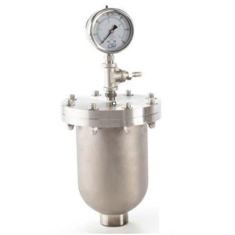"Griffco Pulsation Dampener -  7.5/10cu-in Chargeable Chamber -  1/2"" FNPT Connections -  316SS Wetted & Non-Wetted Materials -  PTFE Bladder - Part #: PD0012ST11"