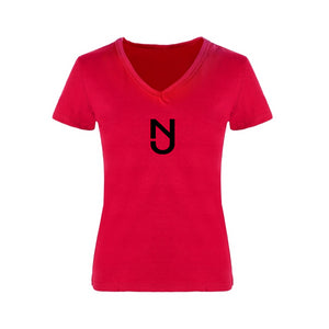 Women V-necks w/Black Logo