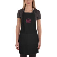Load image into Gallery viewer, IM FROM JERSEY BITCH Embroidered Apron
