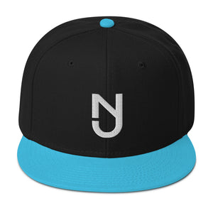 NJ Snapback White logo