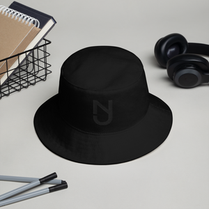 NJ Bucket Hat Black Logo