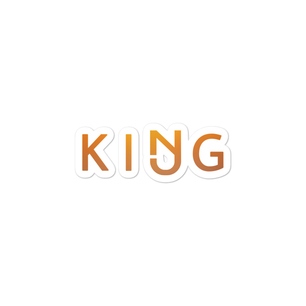 NJ King Stickers