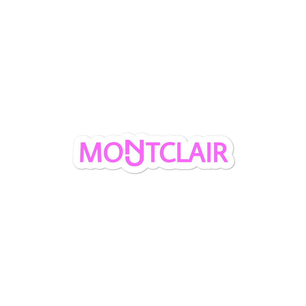Montclair Pink Sticker