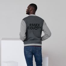 Load image into Gallery viewer, Essex County  Men's Letterman Jacket Black Print