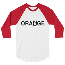 Load image into Gallery viewer, Orange 3/4 Sleeve Raglan Shirt Black Logo