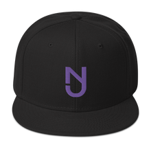 Load image into Gallery viewer, NJ Purple Snapback