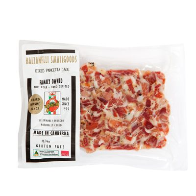 Balzanelli Diced Pancetta 150g - Canberra Home Delivery