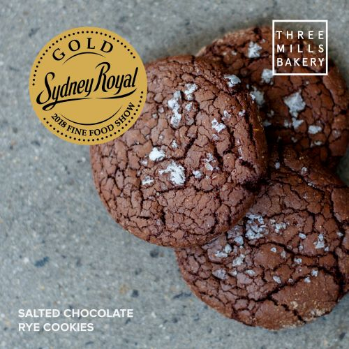 Three Mills Salted Chocolate Rye Cookies (3 Pack) - Canberra Home Delivery