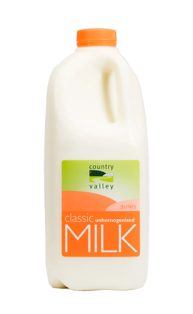 Country Valley Milk - Unhomogenised 2L - Canberra Home Delivery