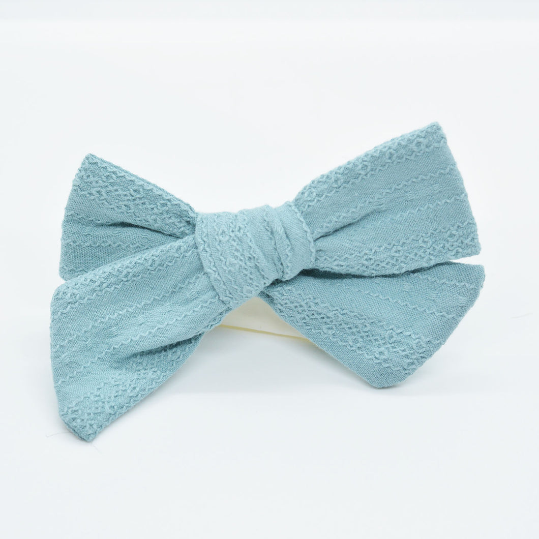 Raised Stitch Bow (3 colors)