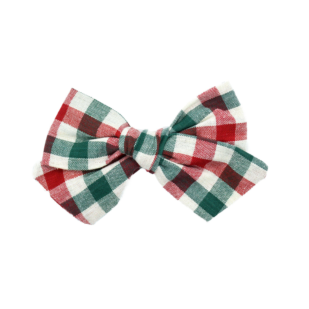 Green & Red Plaid Bow
