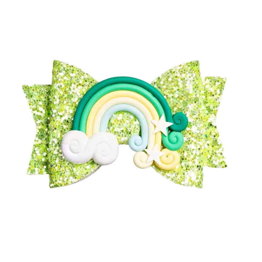 Leprechaun Rainbow Bow