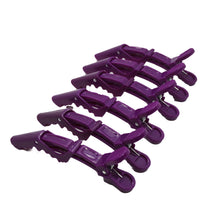 Load image into Gallery viewer, 6 Pack Alligator Clip (Black or Purple)