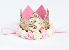 Load image into Gallery viewer, Felt Birthday Crown (Available in 1/2, 1, 2 & 3)