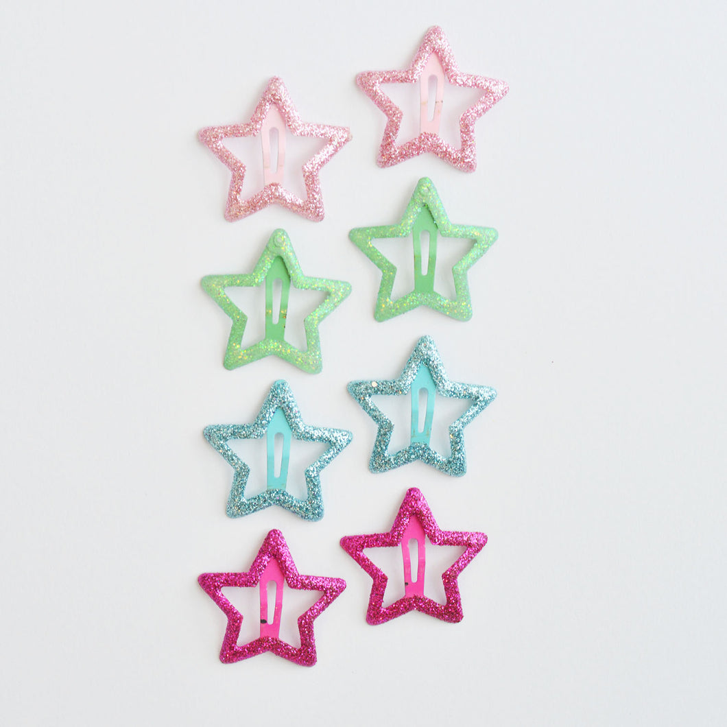 Sparkle Star Clip Set