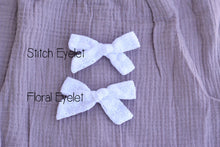 Load image into Gallery viewer, Hand Tied Eyelet Bow