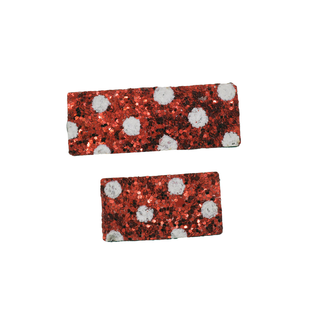 Mommy & Me Red Polka Clip Set