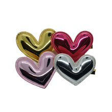 Load image into Gallery viewer, Metallic Puffy Heart Clip (4 colors)