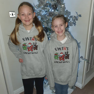 CHRISTMAS DESIGN AMONG US Hoodie || KIDS ||  Grey || Unisex ||