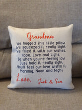 Load image into Gallery viewer, Personalised Luxury Soft Linen Cushion || Cuddle Cushion