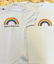Load image into Gallery viewer, RAINBOW Children's T-shirt || White || Unisex || NHS || Can Be Personalised