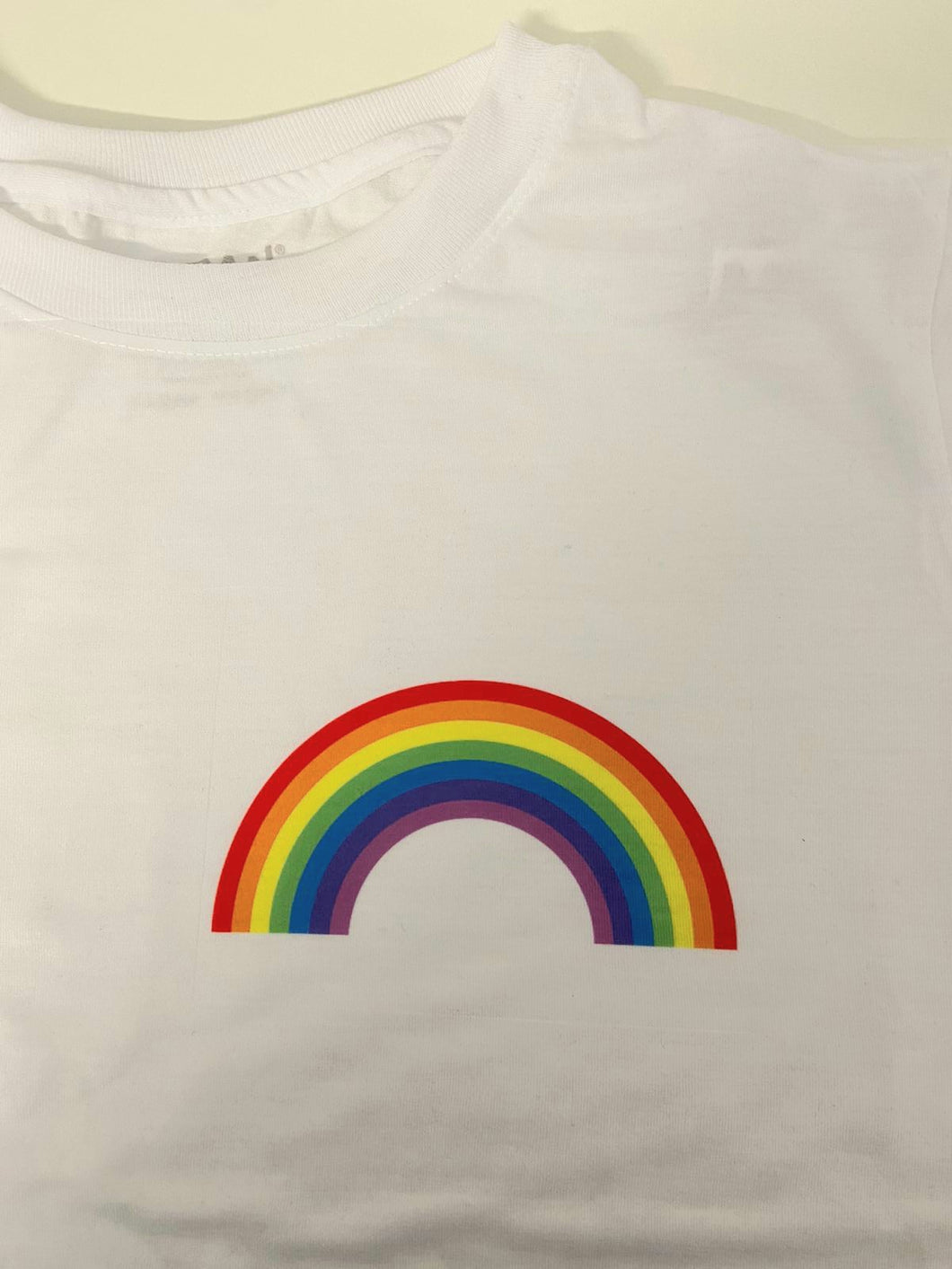 RAINBOW Children's T-shirt || White || Unisex || NHS || Can Be Personalised