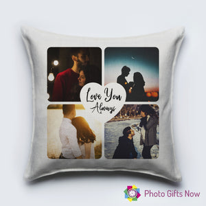 Personalised Luxury Soft Linen Cushion || Love You Always