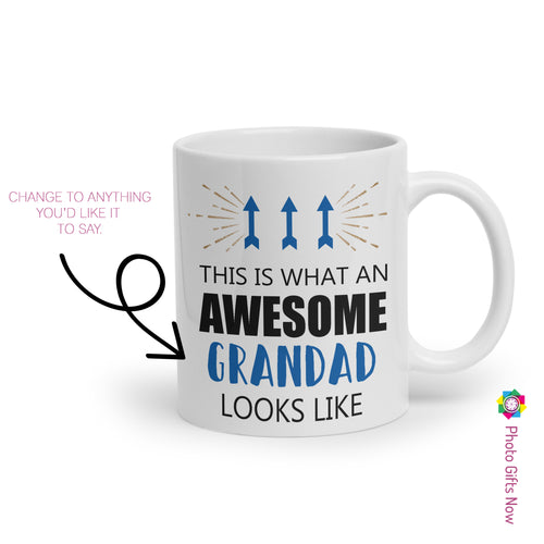 Personalised AWSOME Father's Day Mug || Custom Cup