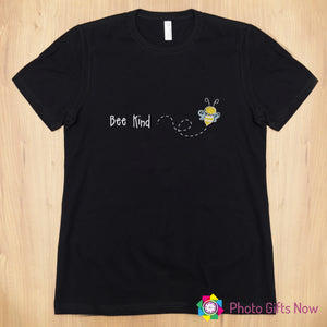 Ladies || BEE KIND Slogan T-shirt || Black, Pink, Grey OR White || Sizes 8 - 16