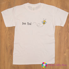 Load image into Gallery viewer, Ladies || BEE KIND Slogan T-shirt || Black, Pink, Grey OR White || Sizes 8 - 16