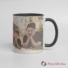 Load image into Gallery viewer, Personalised 11oz Black OR Pink Handle Mug