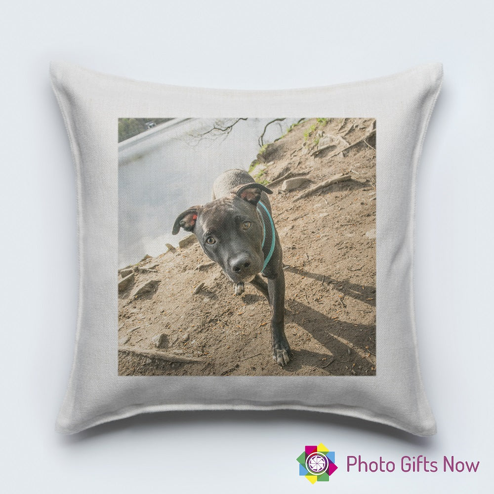 Personalised Luxury Soft Linen Cushion || Own Photo || Design
