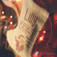 Load image into Gallery viewer, Personalised Christmas Stocking || Perfect Gift || Own Image.