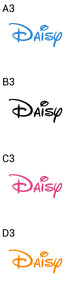 Personalised Metal 625 ml || Flip Top Water Bottle || BPA free || Disney Style Font
