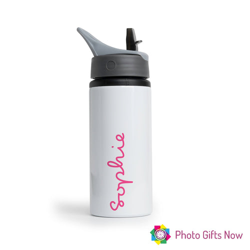 Personalised Metal 625 ml || Flip Top Water Bottle || BPA free || Island Style