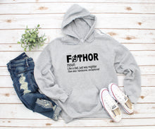 Load image into Gallery viewer, FaThor Hoodie || Father's Day || Grey Hoodie || S - XXL