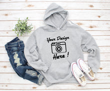 Load image into Gallery viewer, Own Design || Logo || Image || Hoodie || Unisex Adults || Black OR Grey