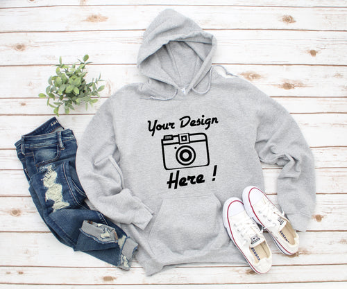 Own Design || Logo || Image || Hoodie || Unisex Adults || Black OR Grey