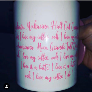 I Love My Coffee Lyrics Mug  #loveitalatte #butfirstcoffee