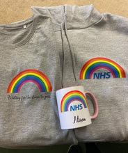 Load image into Gallery viewer, RAINBOW Hoodie || KIDS ||  Grey || Unisex || NHS || Can be personalised