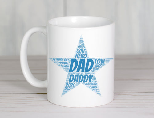 Word Collage || Father's Day Drinkware || Personalise with your words
