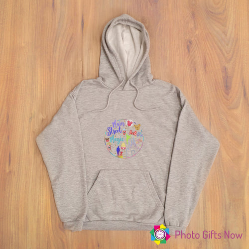 Ladies || MAIN STREET MAGIC DISNEY Slogan Hoodie || Adult jumper || Grey OR Black || XS - 4XL