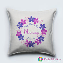 Load image into Gallery viewer, Mothers Day || Personalised Luxury Soft Linen Cushion